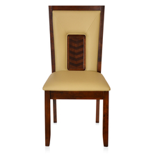 Olivia Dining Chair with Cushion - @home by Nilkamal, Dark Walnut