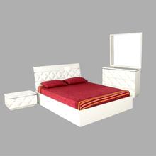 Margery King Bedroom Set - @home by Nilkamal, White