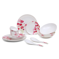 Classic 16 Pieces Dinner Set - @home by Nilkamal, Pink