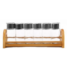 110 ml Condiment Set of 6 with Stand - @home by Nilkamal, Multicolor