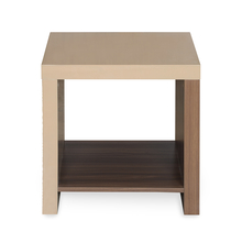 Maestro Side Table - @home by Nilkamal, Walnut with Sand Beige
