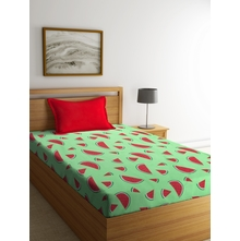 Watermelon 150 cm x 225 cm Single Bedsheet, Green