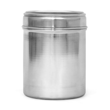 Plain 1 Litre Stainless Steel Container with Seethru Lid, Silver