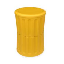 Roman 32 cm x 32 cm x 45 cm Stool with Storage - @home by Nilkamal, Yellow
