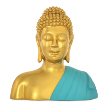 Buddha Bust Shrine Showpiece -@home by Nilkamal, Sea Green
