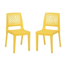 Nilkamal Nexus Chair - Set of 2, Mango Yellow