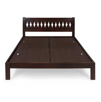 Morocco Queen Bed without Storage, Cappucino