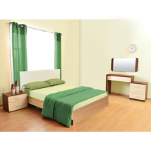 Neo Emily Queen Bedroom Set - @home by Nilkamal, Ivory & Teak
