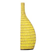 Bohemian Large 17X10X56CM Vase, Yellow