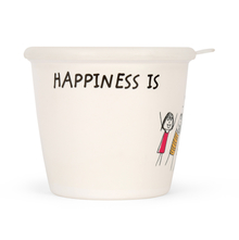 Happiness Modest 700ML Storage Jar, White