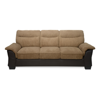 Jasmine 3 Seater Sofa - @home by Nilkamal, Tawny Brown