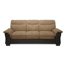 Jasmine 3 Seater Sofa - @home by Nilkamal, Tawny Brown