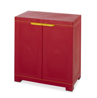 Freedom Mini Small Cabinet - @home by Nilkamal,   bright red/yellow