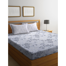 Rose 250 cm x 274 cm Double Bedsheet, Light Grey