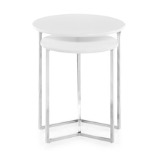 Niko Set of 2 Nesting Table - @home by Nilkamal, White
