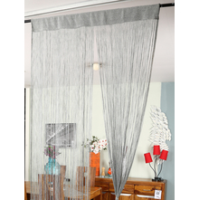 Lurex Thread 100 cm x 229 cm Door Curtain, Silver