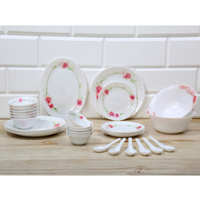 Cherry Opal 33 Pieces Dinner Set, Multicolor