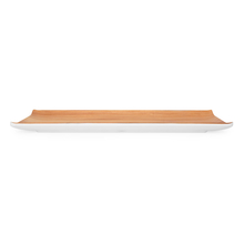 Trinity Teak Rectangular Shallow Platter - @home by Nilkamal, Brown
