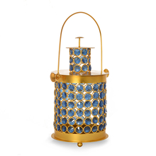 Homely Lantern Crystal Candle Stand - @home by Nilkamal, Indigo