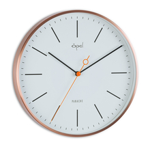Opal Panache Wall Clock Copper Plated Designer, White