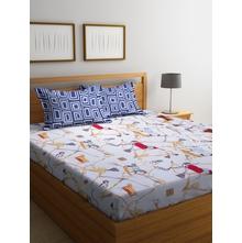 Circus 230 cm x 250 cm Double Bedsheet, White