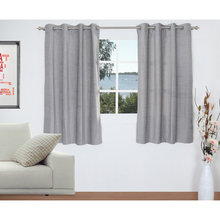 Moshi Curtain Window 2 Pieces - @home by Nilkamal, Grey
