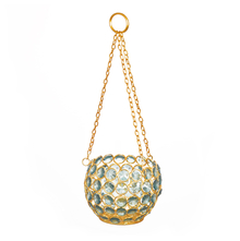 Enchanted Hanging Crystal Cup Candle Stand - @home by Nilkamal, Sea Green