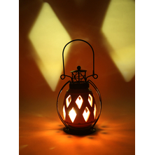 LED Hanging Lantern, Orange
