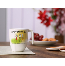 Happiness Radiant Sofa 250ML Mug, White