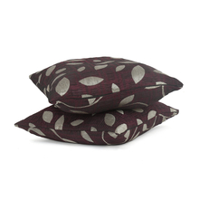 Leaf 40 x 40 cm Cushion Cover Set of 2 - @home by Nilkamal, Maroon