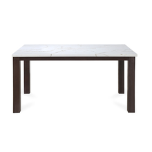 Pratt 6 Seater Dining Table - @home by Nilkamal, Deark Walnut
