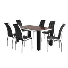 Fortis 6 Seater Dining Set - @home by Nilkamal, Black