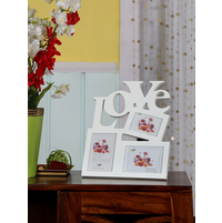 Love MDF Photo Frame, White