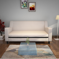 Gregory 3 Seater Sofa, Moshi Cream