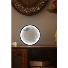 LED Infinity Light Mirror, Black