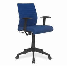 Nilkamal Thames Low Back Fabric Office Chair, Blue