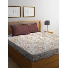 Damask Mix 250 cm x 274 cm Double Bedsheet, Multicolor