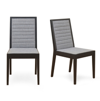 Celosa Dining Chair Set of 2 - @home by Nilkamal, Black
