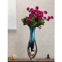 Azure Aura Convex Small Vase, Sea Green
