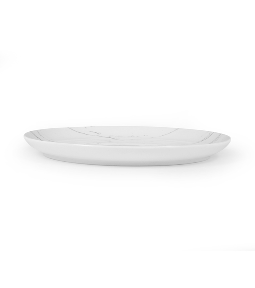 Marble Collection Dinner Plate - @home by Nilkamal, White