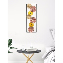 Rectangular Floweret 31 cm x 90 cm Wall Decor - @home by Nilkamal, Yellow