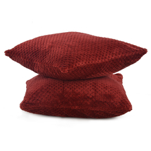 Honeycomb 2 Pieces Cushion Cover - @home by Nilkamal, Maroon