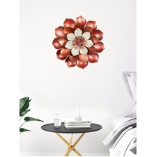 Metal Bloom 51 cm x 51 cm Wall Decor - @home by Nilkamal, Orange