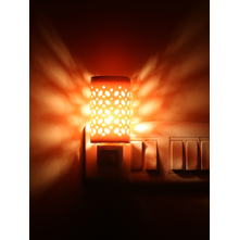 Geo Electrical Plugin Diffuser 5cmX5cmX8cm - @home by Nilkamal, Orange