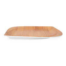 Trinity Teak Wood Square Dinner Plate - @home by Nilkamal, Brown
