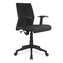 Nilkamal Thames Low Back Fabric Office Chair, Black