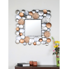 Abstract Metal 83CM Wall Mirror Frame, Copper