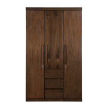 Marathon 3 Door Wardrobe, Dark Walnut
