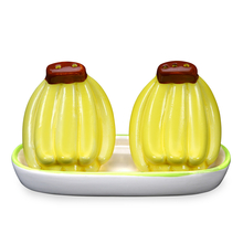 Banana Salt & Pepper With Tray, Yellow