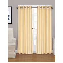 Embellished Square 115 cm x 213 cm Door Curtain - @home by Nilkamal, Cream